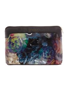 Mithis multi-coloured floral large cosmetic bag