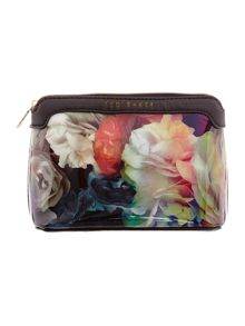 Myrthue multi-coloured floral small cosmetic bag