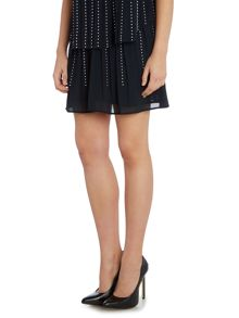 Michael Kors Pleat embellished flare skirt