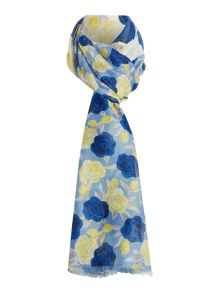 Dickins & Jones Floral Half and Half Scarf