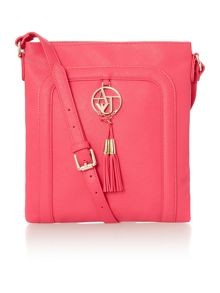 Armani Jeans Eco Saff pink cross body bag
