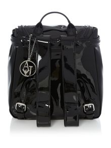 Armani Jeans Patent black backpack bag
