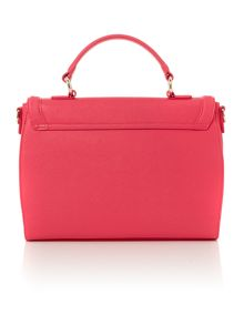 Eco Saff pink flap over satchel bag