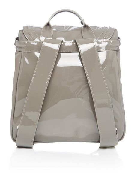 Armani Jeans Patent grey backpack bag