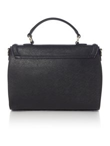 Armani Jeans Eco Saff black flap over satchel bag