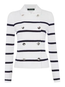 Dolanie brush cotton striped jacket