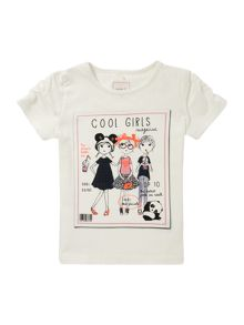 name it Girls Cool girl magazine cover tee