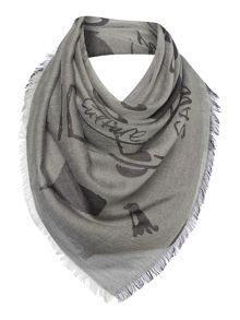 Vivienne Westwood Mixed pattern long scarf