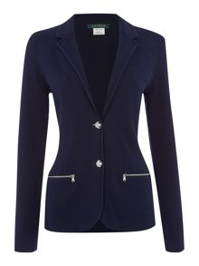 Lauren Ralph Lauren Trudy classic blazer with zip pockets