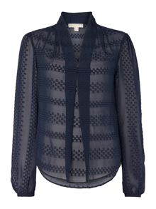 Michael Kors Circle dot jacquard top