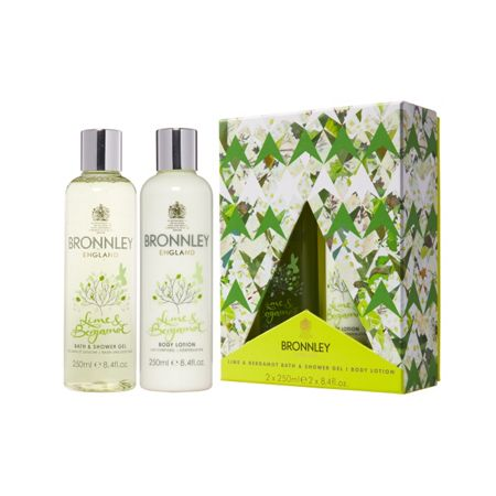 Bronnley Lime & Bergamot Bath & Shower Gel and Body Lotion