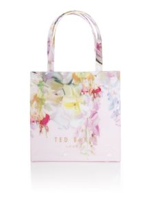 Lilicon light pink floral small bowcon tote bag