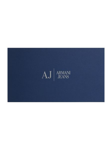 Armani Jeans Navy eco leather ziparound purse