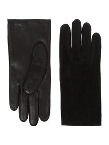 Dents Mens wool and suede glove