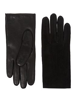 Mens wool and suede glove