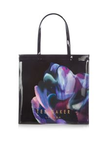 Coscon bowcon black floral large tote bag