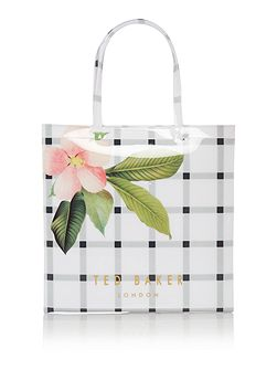 Trelcon bowcon white floral large tote bag