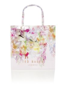 Ted Baker Gardcon bowcon light pink floral large tote bag