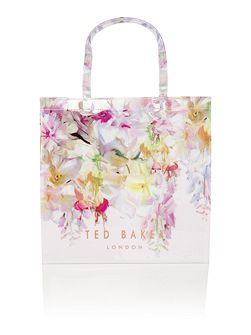 Gardcon bowcon light pink floral large tote bag