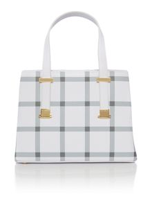 Ted Baker Tanika crosshatch white floral tote bag