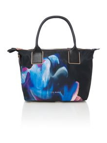 Ted Baker Clio nylon black floral large tote bag