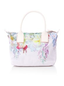 Ted Baker Ferniy nylon light pink floral large tote bag
