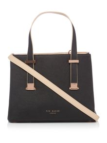 Ted Baker Sherryy crosshatch black ew tote bag