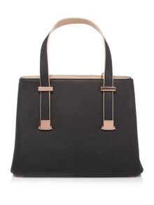Sherryy crosshatch black ew tote bag