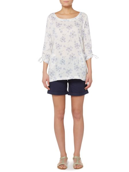 LILY & ME Printed tie sleeve tunic