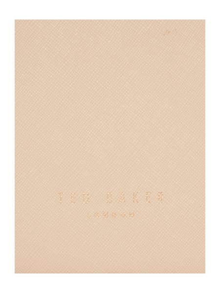 Ted Baker April crosshatch taupe ew tote bag