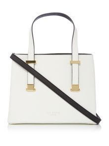 Ted Baker Sherryy crosshatch white ew tote bag