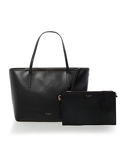 Celiaa saffiano black large ew tote bag