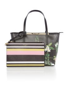 Ted Baker Tammie black saffiano floral small tote bag