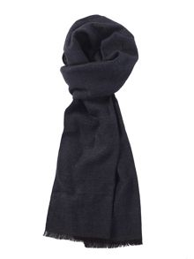 Charcoal & Navy Subtle Check Scarf