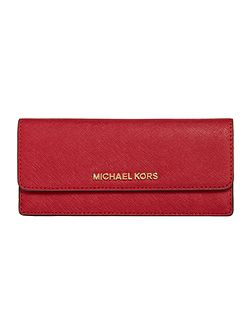 Jetset red flat flap over purse