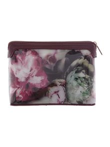 Ted Baker Norran pink floral small cosmetic bag