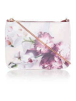 Cailey pink floral cross body bag