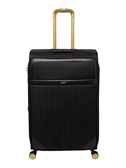 Opulence jacquard 8 wheel soft large suitcase