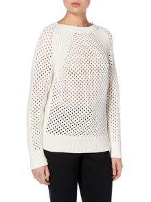 Michael Kors Long sleeve mesh knit sweater