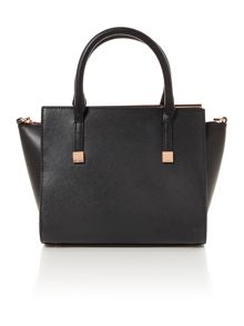 Ted Baker Tabatha black leather crossbody tote bag