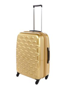 Lulu Guinness Lulu Lips gold 61cm 4 wheel case