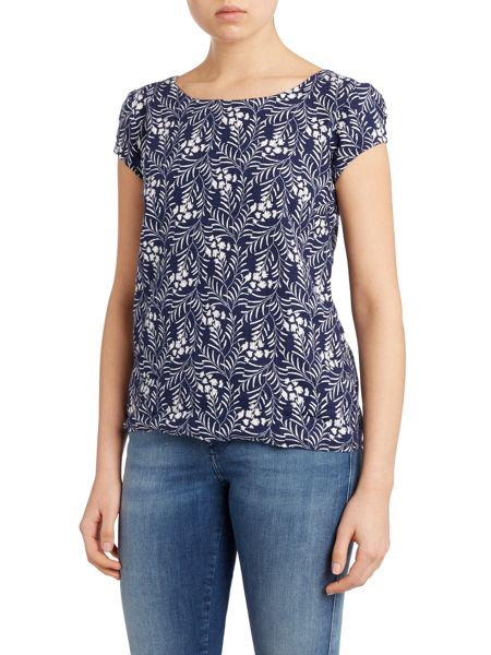 LILY & ME Linen printed top
