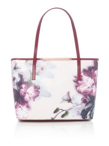 Lietta pink floral large tote bag