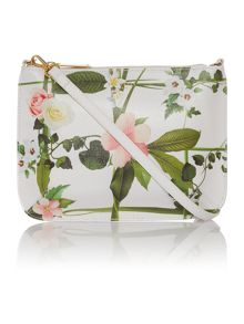 Ted Baker Thorra white leather floral crossbody
