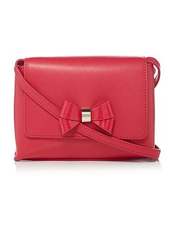 Angiee pink leather small crossbody