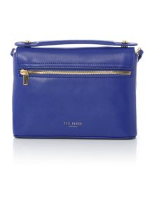 Ted Baker Irena blue saffiano leather small crossbody