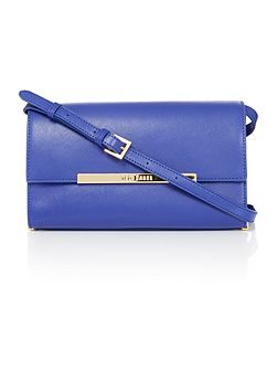 Serah blue medium crossbody bag