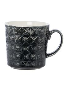 Linea Amazon Grey Crackle Glaze Mug