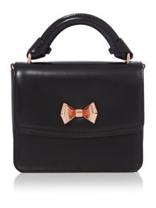 Juliee black leather small crossbody