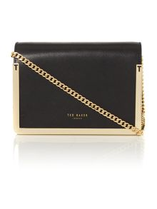 Kamara black leather small crossbody